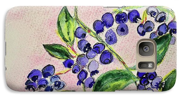 Galaxy Case featuring the painting Blueberries by Kim Nelson