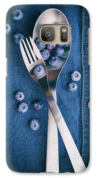 Blueberries On Denim II Galaxy S7 Case