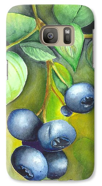 Galaxy Case featuring the painting Blueberrries by Angela Armano