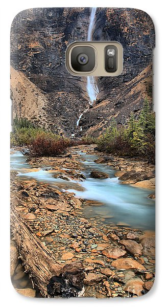 Galaxy Case featuring the photograph Blueberry Blue Waters Under Takakkaw Falls by Adam Jewell