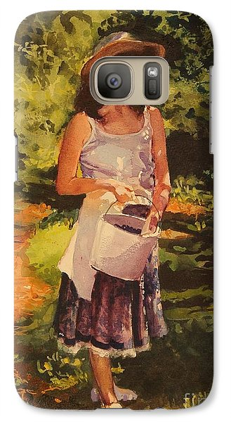Galaxy Case featuring the painting Blueberry Girl by Elizabeth Carr