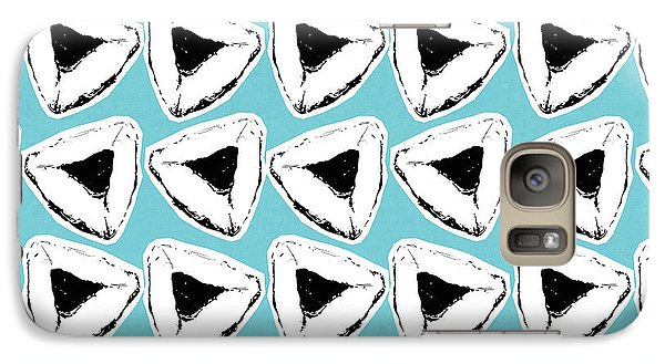 Galaxy Case featuring the mixed media Blueberry Hamentashen- Art By Linda Woods by Linda Woods