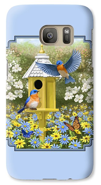 Bluebird Garden Home Galaxy Case by Crista Forest