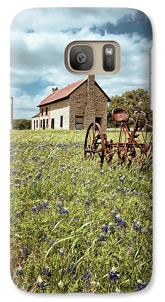 Galaxy Case featuring the photograph Bluebonnet Fields by Linda Unger