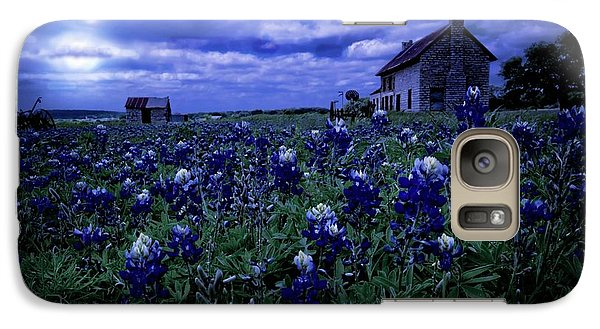 Galaxy Case featuring the photograph Bluebonnets In The Blue Hour by Linda Unger