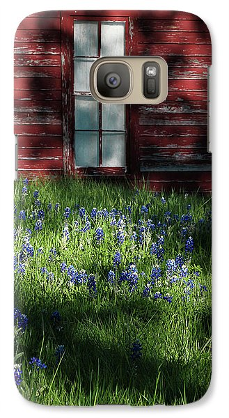 Galaxy Case featuring the photograph Bluebonnets In The Shade by David and Carol Kelly
