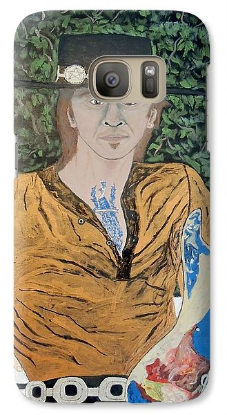 Galaxy Case featuring the painting Blues In The Park With Stevie Ray Vaughan. by Ken Zabel