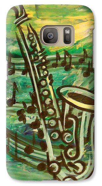 Galaxy Case featuring the digital art Blues Solo In Green by Evie Cook