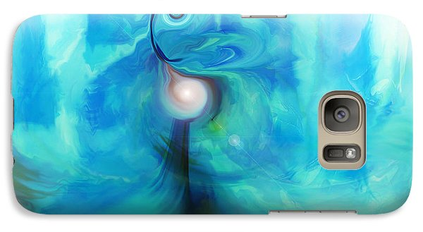 Galaxy Case featuring the digital art Bluescape by Linda Sannuti