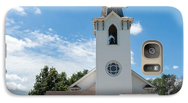 Galaxy Case featuring the photograph Bluffs Trinity Lutheran Church by Edward Peterson