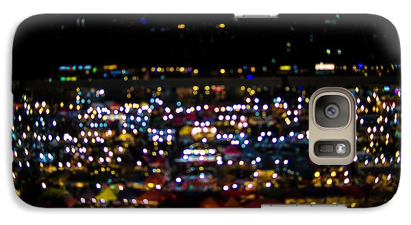 Galaxy Case featuring the photograph Blurred City Lights  by Jingjits Photography