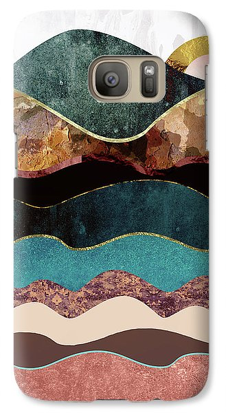 Landscapes Galaxy S7 Case - Blush Moon by Katherine Smit