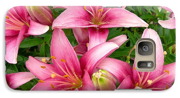 Galaxy Case featuring the photograph Blush Of The Blossoms by Randy Rosenberger