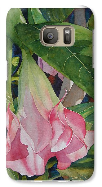 Galaxy Case featuring the painting Blushing Angel by Judy Mercer