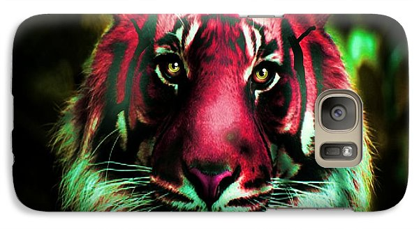 Galaxy Case featuring the photograph Blushing Tiger by George Pedro