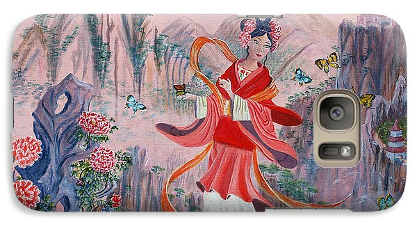 Galaxy Case featuring the painting Bo Chaa by Anthony Lyon