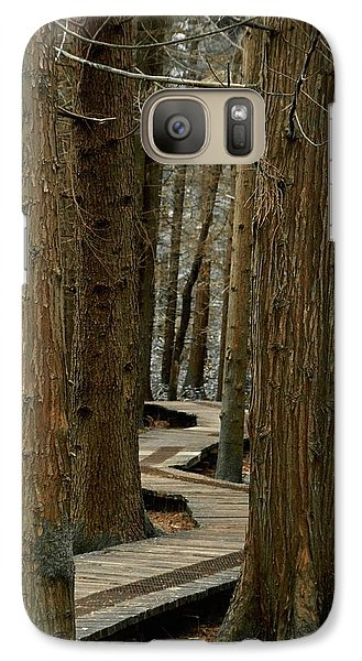 Galaxy Case featuring the photograph Boardwalk Among Trees by Scott Holmes