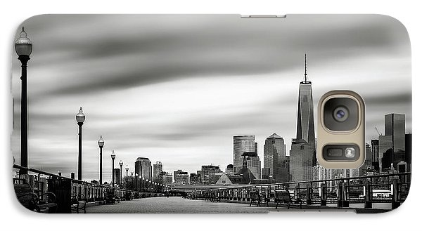 Galaxy Case featuring the photograph Boardwalk Into The City by Eduard Moldoveanu