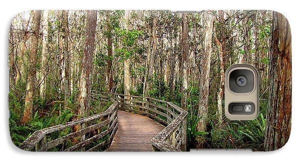 Galaxy Case featuring the photograph Boardwalk Through Corkscrew Swamp by Barbara Bowen