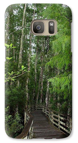 Galaxy Case featuring the photograph Boardwalk Through The Bald Cypress Strand by Barbara Bowen