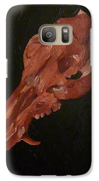 Galaxy Case featuring the painting Boar's Skull No. 1 by Joshua Redman