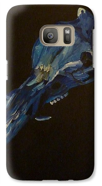 Galaxy Case featuring the painting Boar's Skull No. 2 by Joshua Redman