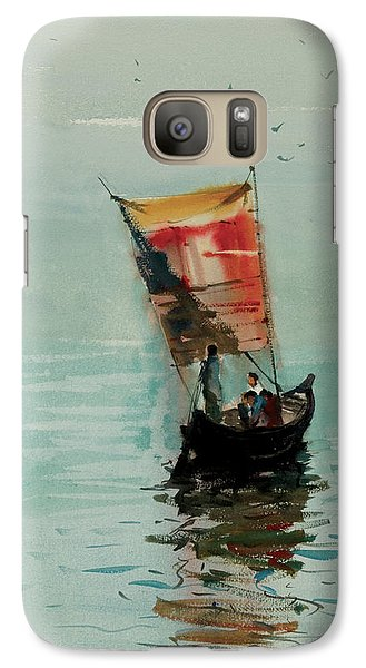 Galaxy Case featuring the painting Boat by Helal Uddin