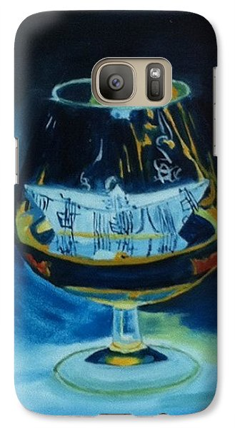 Galaxy Case featuring the painting Boat In A Glass by Rod Jellison