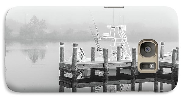 Galaxy Case featuring the photograph Boat In The Sounds Alabama  by John McGraw