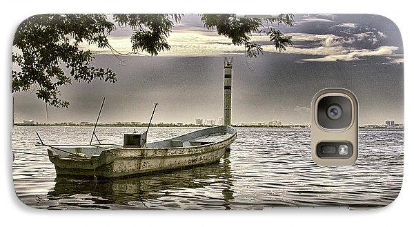 Galaxy Case featuring the photograph Boat In The Water by William Havle