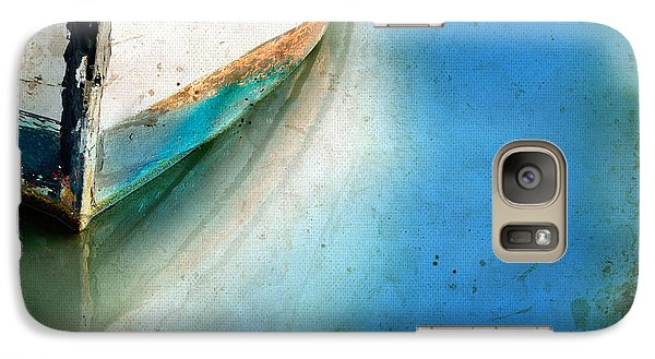 Galaxy Case featuring the photograph Bow Of An Old Boat Reflecting In Water by Jill Battaglia