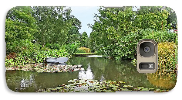 Galaxy Case featuring the photograph Boat On The Lake by Gill Billington
