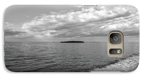 Boat Wake On Florida Bay Galaxy S7 Case