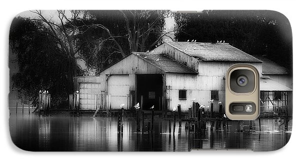 Galaxy Case featuring the photograph Boathouse Bw by Bill Wakeley