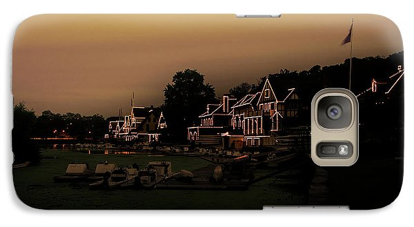 Galaxy Case featuring the photograph Boathouse Row From The Lagoon Before Dawn by Bill Cannon