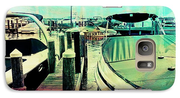 Galaxy Case featuring the photograph Boats And Dock by Susan Stone