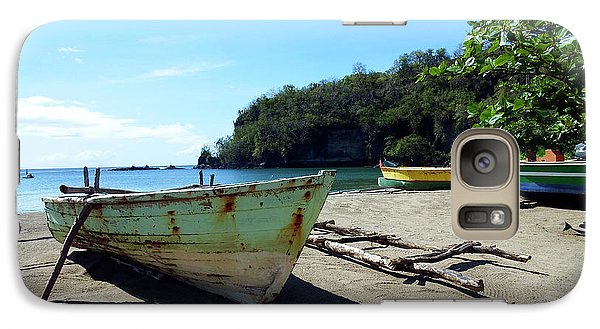 Galaxy Case featuring the photograph Boats At La Soufriere, St. Lucia by Kurt Van Wagner