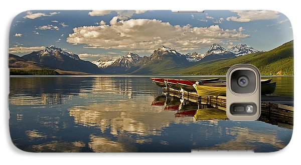 Boats At Lake Mcdonald Galaxy S7 Case
