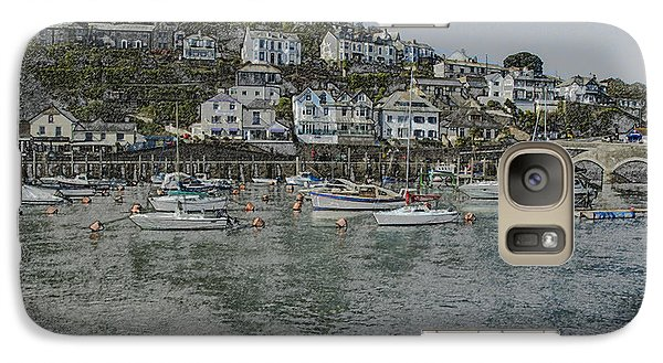 Galaxy Case featuring the photograph Boats At Looe by Brian Roscorla