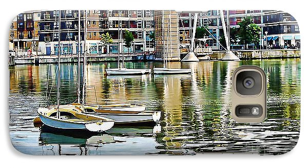 Galaxy Case featuring the photograph Boats Becalmed Rvd by Jack Torcello
