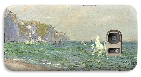 Boat Galaxy S7 Case - Boats Below The Cliffs At Pourville by Claude Monet