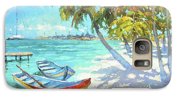 Galaxy Case featuring the painting Boats  by Dmitry Spiros