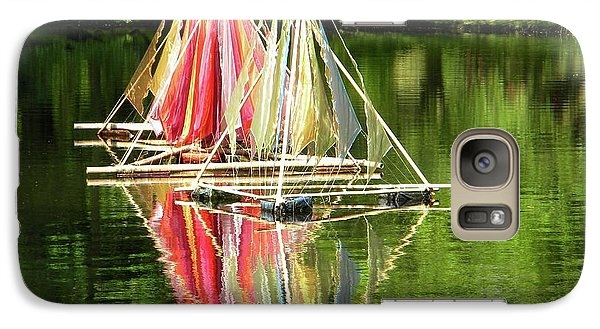 Galaxy Case featuring the photograph Boats Landscape by Manuela Constantin
