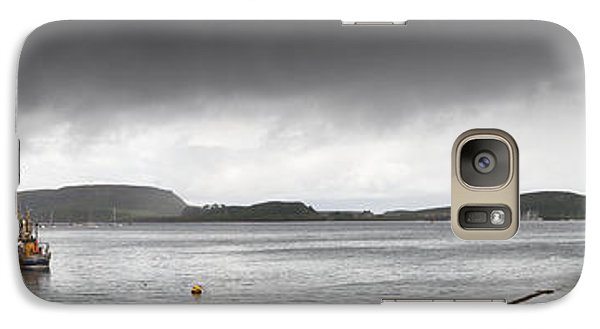 Galaxy Case featuring the photograph Boats Moored In The Harbor Oban by John Short