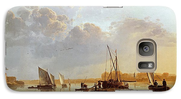 Boat Galaxy S7 Case - Boats On A River by Aelbert Cuyp
