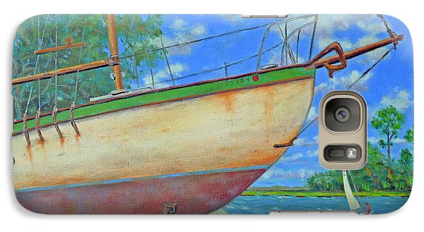 Galaxy Case featuring the painting Boatyard On Shem Creek by Dwain Ray