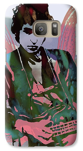 Bob Dylan Modern Etching Art Poster Galaxy Case by Kim Wang
