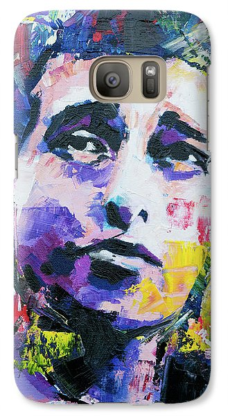Bob Dylan Portrait Galaxy Case by Richard Day