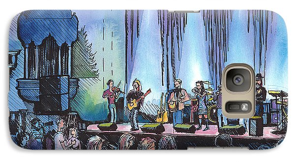 Galaxy Case featuring the painting Bob Dylan Tribute Show by David Sockrider