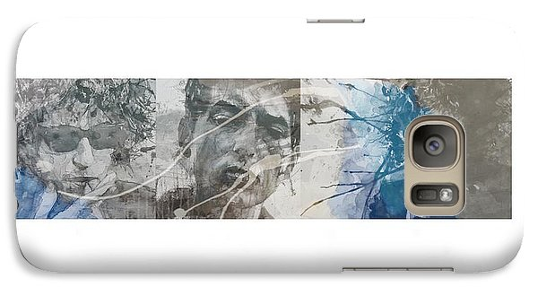 Bob Dylan Galaxy S7 Case - Bob Dylan Triptych by Paul Lovering